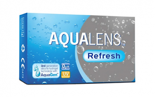 Φακοί Επαφής Aqualens Refresh Μυωπίας Μηνιαίοι 3 τεμ