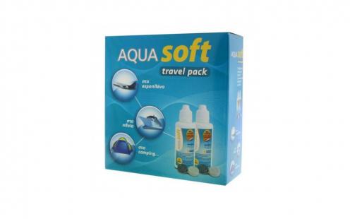 Υγρό Φακών Επαφής Aquasoft Travel Pack 2x60ml