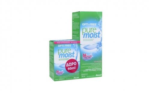 Υγρό Φακών Επαφής OptiFree Pure Moist 300ml + 60ml