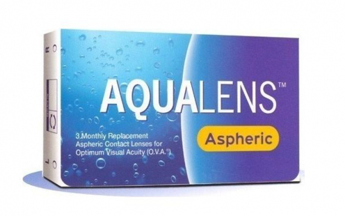 Φακοί Επαφής Aqualens Aspheric Μυωπίας Μηνιαίοι 3 τεμ