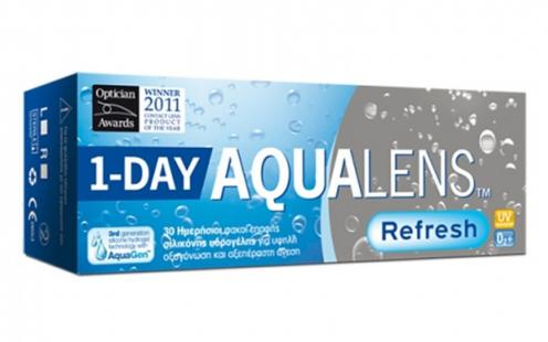 Φακοί Επαφής Aqualens Refresh One Day Μυωπίας Ημερήσιοι 30τεμ